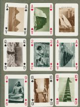 Collectable Vintage Souvenir playing cards Egyptian Monuments by Fournier